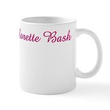 kara hot pink and white2 Mug