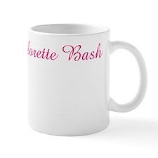 kara hot pink and white Small Mug