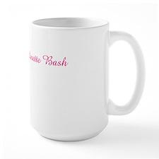 kara hot pink and white Mug