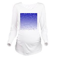 Squiggle Clock Long Sleeve Maternity T-Shirt