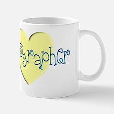 Sonographer YELLOW HEART 2 Mug
