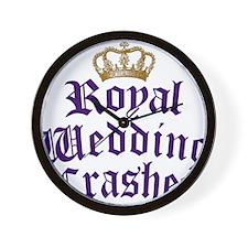 royal-wedding-crasher Wall Clock