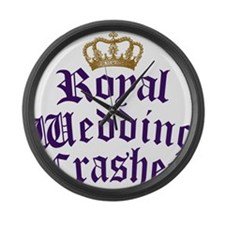 royal-wedding-crasher Large Wall Clock