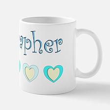 Sonographer Blue Hearts Small Small Mug