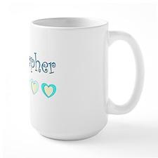 Sonographer Blue Hearts Mug