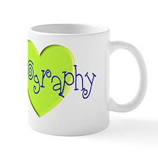 sonography green heart Mug