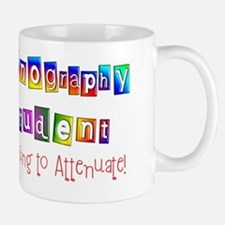 Sonography student learning to attentua Mug