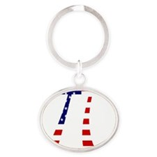 american pi Oval Keychain