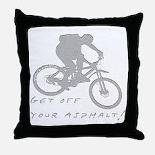 10x10_mtb_asphalt Throw Pillow