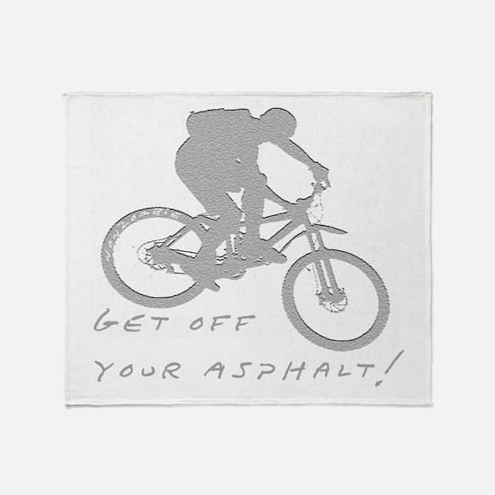 10x10_mtb_asphalt Throw Blanket