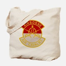 17th Air Cavalry 1st Squadron Airborne Pa Tote Bag