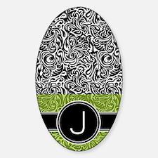 444_monogram_iphone_J_02 Sticker (Oval)