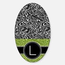 444_monogram_iphone_L_02 Sticker (Oval)
