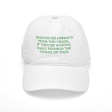 thor drink green Baseball Cap