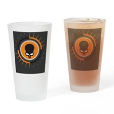 OrangeGraySpikeSkull5 Drinking Glass