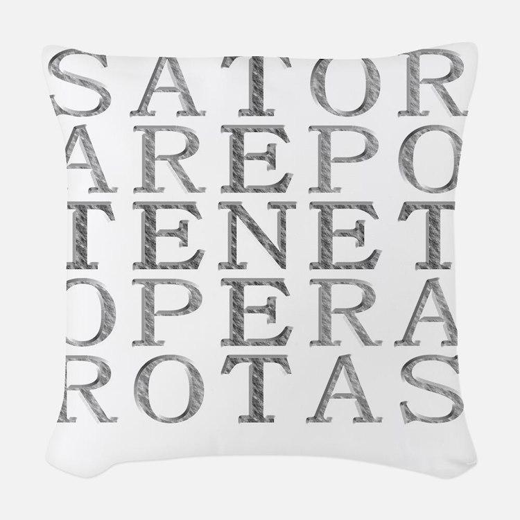 sator-embossed Woven Throw Pillow