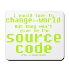 sourcecode_darkshirt Mousepad