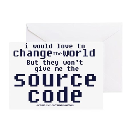 sourcecode_lightshirt Greeting Card