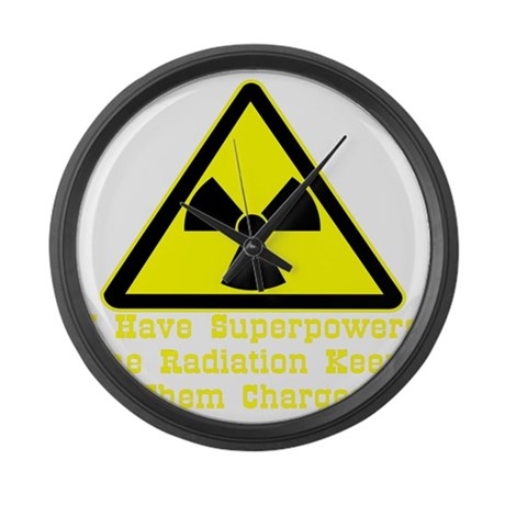 blk_Radiation_Superpowers Large Wall Clock