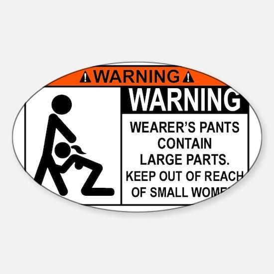 choking-hazard Sticker (Oval)