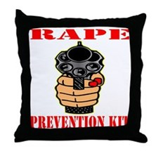blk_Rape_Prevention_Kit Throw Pillow