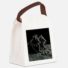 sheltie scratchboard Canvas Lunch Bag
