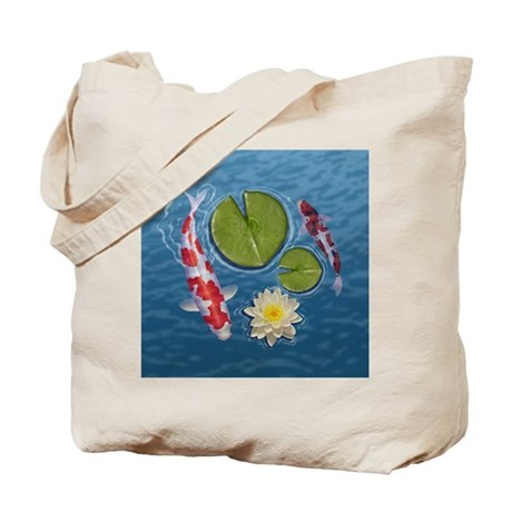 Koi Clock Tote Bag
