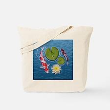 Koi Clock Tote Bag