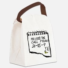 For a good time call Fran. Canvas Lunch Bag