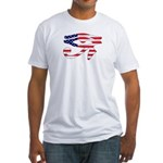 USA eye of Horus Fitted T-Shirt