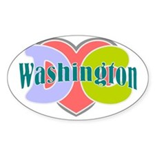 I love Washington dc Decal