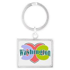 I love Washington dc Landscape Keychain