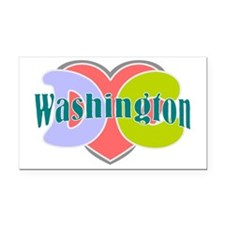 I love Washington dc Rectangle Car Magnet