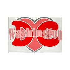 I love Washington dc Rectangle Magnet