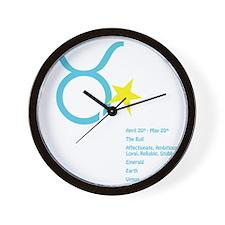 Taurusdetaildark Wall Clock