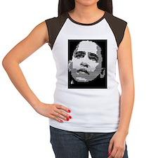 obama graphic square Women's Cap Sleeve T-Shirt