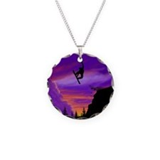 Snowboarder Off Cliff Necklace