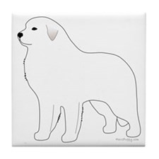 GreatPyrenees Tile Coaster