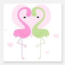 "flamingos cp1 Square Car Magnet 3"" x 3"""