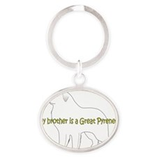 GreatPyrenees_Brother Oval Keychain