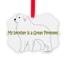 GreatPyrenees_Brother Ornament