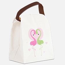 flamingos cp1 Canvas Lunch Bag