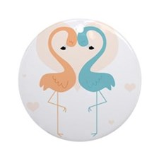 flamingos cp4 Round Ornament