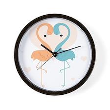 flamingos cp4 Wall Clock