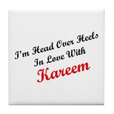 In Love with Kareem Tile Coaster