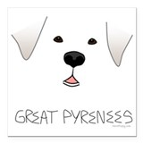 Great pyrenees Square Car Magnets