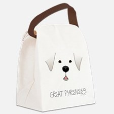 GreatPyreneesFace Canvas Lunch Bag