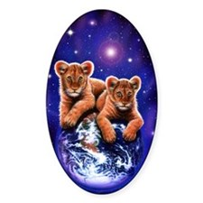 Lion Cubs on Earth Decal