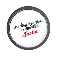 In Love with Justin Wall Clock