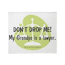 lawyer-grandpa Throw Blanket